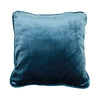 Blue velvet cushion