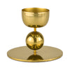 Brass Pillar Candle Holder Short 7.5cm