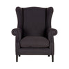 Charcoal Linen Wingback Chair