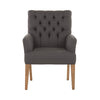 Charcoal Studded Arm Chair