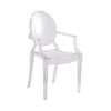 Clear Ghost Chair with Arms