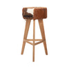 Cow Hide Wooden Stool