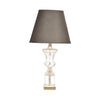Crystal Lamp with Grey Shade
