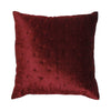 Dark red cushion
