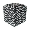 Black Diamond Patterned Ottoman