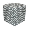 Grey diamond patterned ottoman