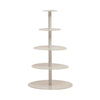 Five Tier White Cake Stand -White