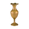 Fluted Antique Brass Vase 15cm
