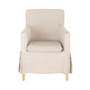 French Linen Tub Chair