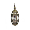 Gold Hanging Moroccan Lantern Medium