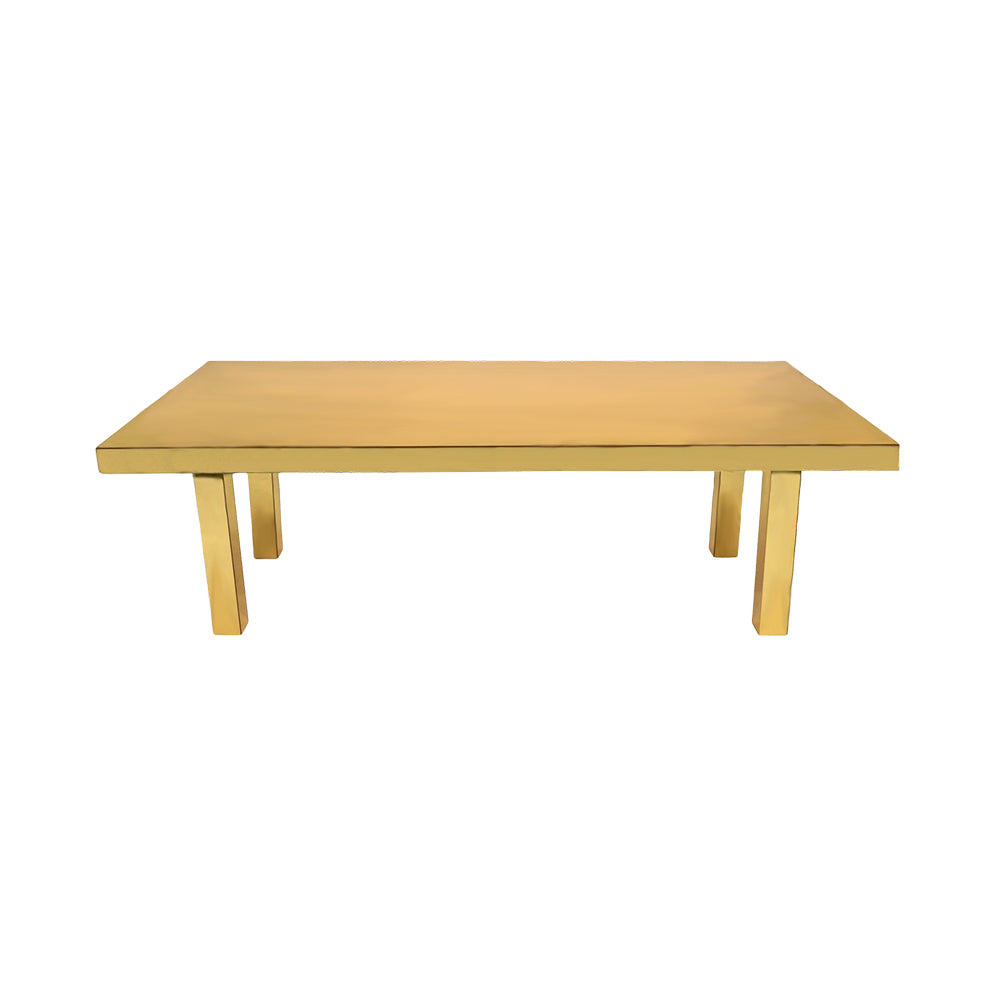 Gold Mirror Perspex Table 2 4m x 1 2m