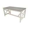 Grey and White Slatted Table
