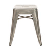 Industrial Silver Low Stool