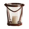 Leather Stirup Glass Lantern