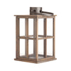 Lime Wash Wooden Lantern