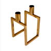 Linear 2 Candle Holder Gold