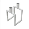 Linear 2 Candle Holder White