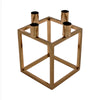 Linear 4 Candle Holder Gold