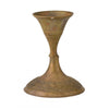 Miniature Antique Brass Candle Holder 7.5cm