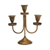Minature Brass 3 Arm Candelabra