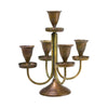 Minature Brass 5 arm candelabra