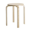 Pale Timber Round Wooden Low Stool