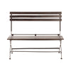 Pigalle Bench with Back