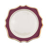 Sunflower Ox Blood Charger Plate