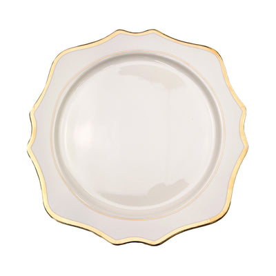 Sunflower White Charger Plate
