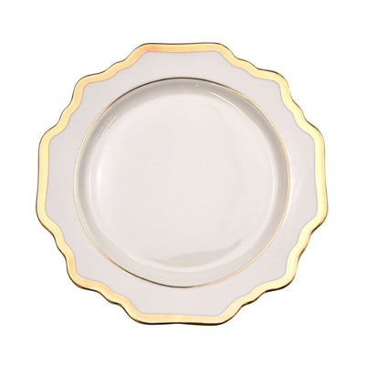 Sunflower White Entree Plate