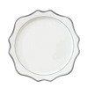 Sunflower White and Silver Charger Plate