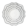 Sunflower White and Silver Dinner Plate