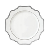 Sunflower White and Silver Side Plate