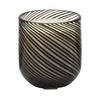 Tealight Votive Black Stripe
