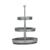 Three Tier Silver Tin Stand