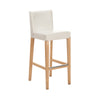 White Vinyl Bar Stool