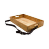 Wooden Tray With Leather+B2:B64 Strap