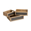 Wooden Crate with Blackboard (Set of 3)