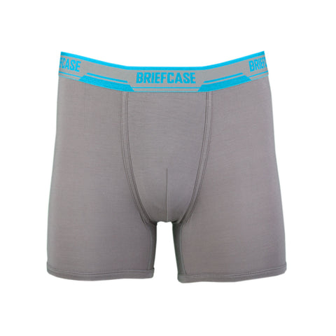 BRIEFCASE Men's Single Boxer Briefs w/ Internal Pouch - Grey