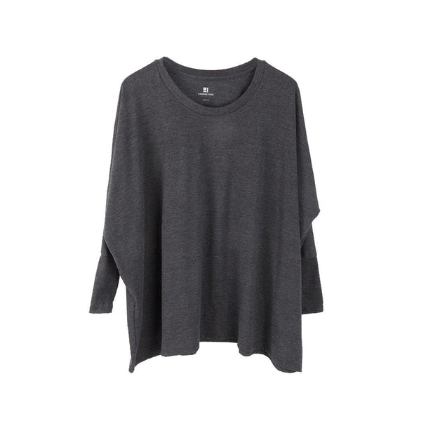 Standard Issue Oversize Women's Long Sleeve Tunic  - Black