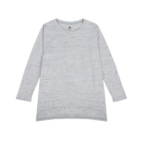 Standard Issue Oversize Women's Tee 3/4 Sleeve - Speckled Grey