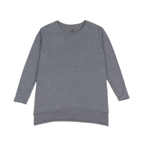 Standard Issue Women's Oversize Tee 3/4 Sleeve - Charcoal