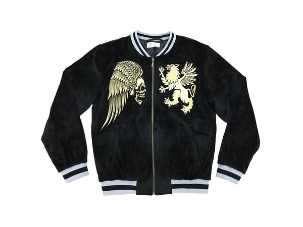 VELOUR SOUVENIR JACKET BLACK - Standard Issue NYC