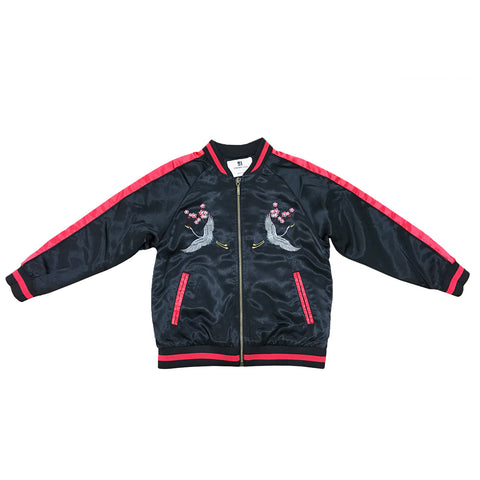 Kid's Crane Souvenir Jacket - Black/Red