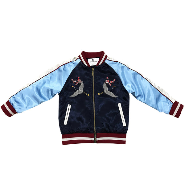 Kid's Crane Souvenir Jacket - Navy/Sky Blue