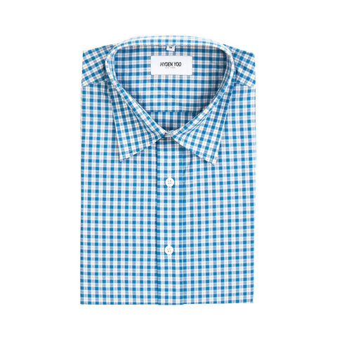 Raymond Slim Shirt - Blue Beige Plaid