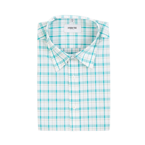 Connor Shirt - Teal Plaid
