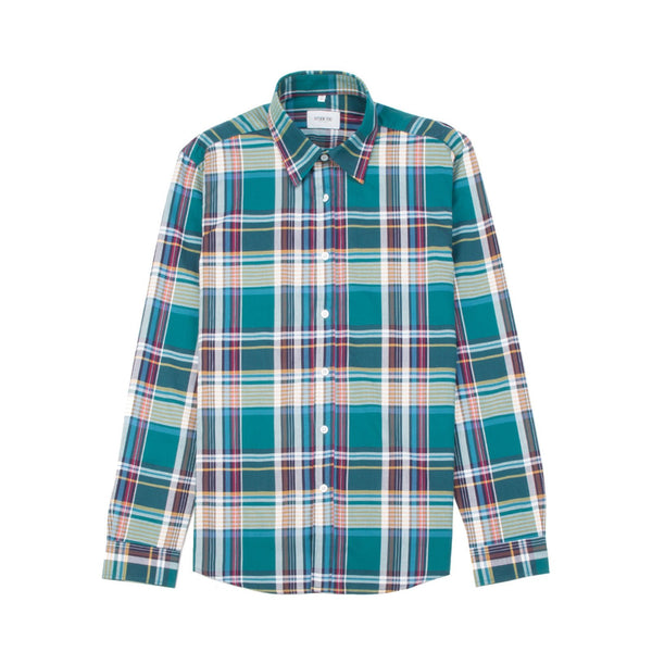 Connor Shirt Blue Aqua Plaid
