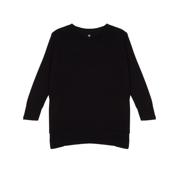 Standard Issue Oversize Women's Tee 3/4 Sleeve - Black