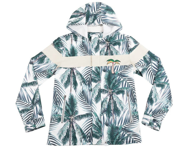 Palm Tree Embroidered Parka